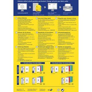 100 AVERY Zweckform Ordneretiketten L4749-20 blau für 4,0 - 5,0 cm Rückenbreite