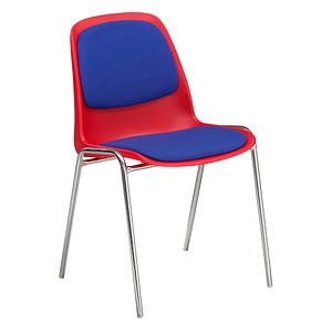 FRIWA Schalenstuhl 1163-024 rot, blau