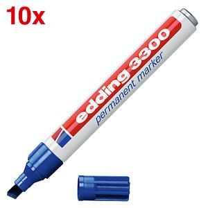 10 edding 3300 Permanentmarker blau 1,0 - 5,0 mm