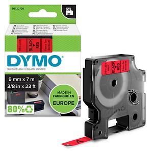 DYMO Beschriftungsband D1 40917 S0720720, 9 mm schwarz auf rot