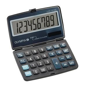 OLYMPIA LCD-1010E Taschenrechner schwarz/blau