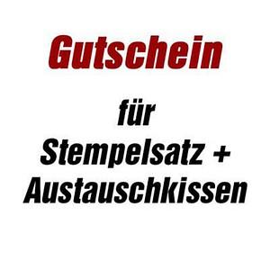 trodat Gutschein für Stempelplatte   für trodat 4915 mit Logo