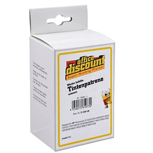 office discount   schwarz Tintenpatrone ersetzt HP 363 (C8719EE)