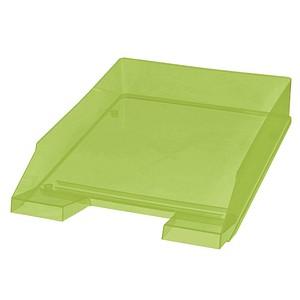 5 helit Briefablagen   grün-transparent DIN C4