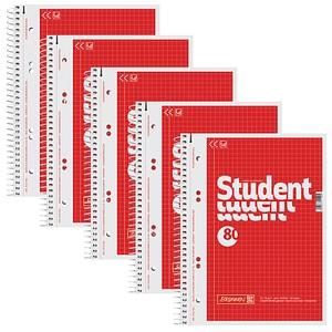 5 BRUNNEN Collegeblöcke Student DIN A5 kariert
