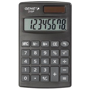 Taschenrechner 215 P von GENIE