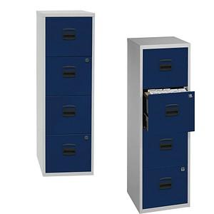 BISLEY Home PFA 4 Hängeregistraturschrank blau/grau 4 Schubladen