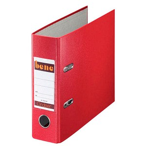 bene A5 Ordner rot Kunststoff 7,5 cm DIN A5 quer