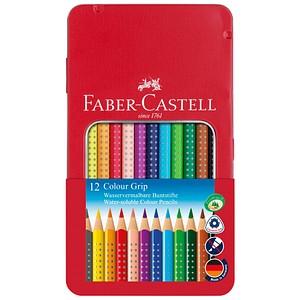 12 FABER-CASTELL Colour GRIP Buntstifte farbsortiert