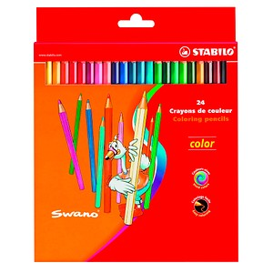 24 STABILO color Buntstifte farbsortiert