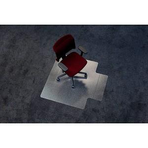 Rollt & Schützt Bodenschutzmatte für Teppichböden rechteckig mit Lippe kurze Seite, 120,0 x 130,0 cm