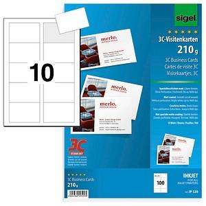 100 Sigel Visitenkarten Ip520 Weiß