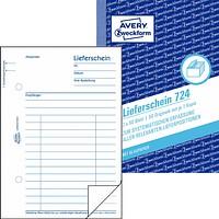 AVERY Zweckform Formulare Formularbuch 724 Lieferschein Vordrucke Nachweiss!