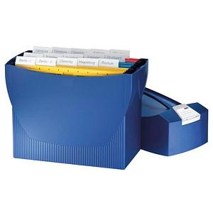 HAN Hängeregistraturbox ohne Mappen Swing blau mit Deckel für 20 Hängemappen oder 3 schmale Ordner