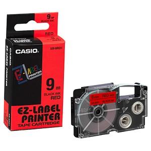 CASIO Beschriftungsband XR-9RD XR-9RD1, 9 mm schwarz auf rot
