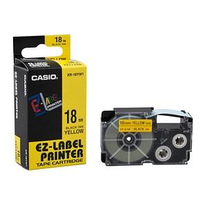 CASIO Beschriftungsband XR-18YW XR-18YW1, 18 mm schwarz auf gelb