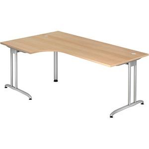 HAMMERBACHER Altus Schreibtisch eiche L-Form