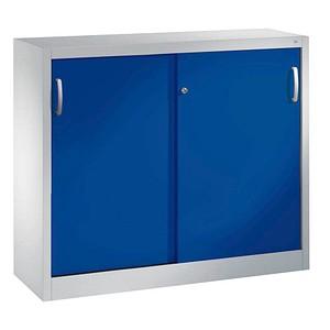 CP C 2000 Acurado Schiebetürenschrank blau/grau 2 Fachböden