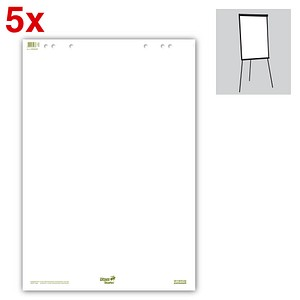 Ursus Flipchart-Papier Green blanko 68,0 x 99,0 cm, 20 Blatt, 5 Blöcke