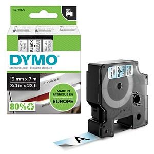 DYMO Beschriftungsband D1 S0720820, 19 mm schwarz auf transparent