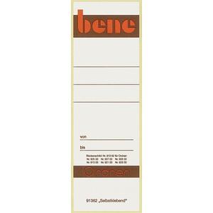 10 bene Ordneretiketten weiß für 8,0 cm Rückenbreite