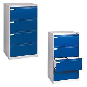 CP Hängeregistraturschrank blau/grau 4 Schubladen