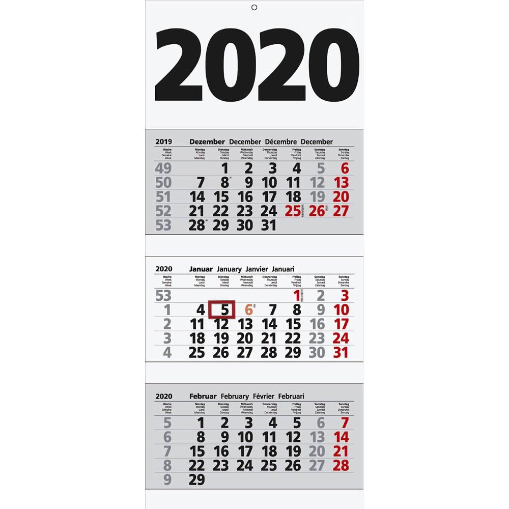 3-Monats-Wandkalender von keine Marke