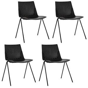 4 PAPERFLOW TRIANGLE Besucherstühle schwarz günstig online