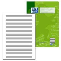 OXFORD 100050399 Notenheft Schule 15er Pack A4 8 Blatt Lineatur 14 mit Hilfslinien sortiert gr/ün /& violett