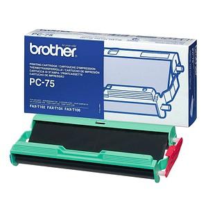 brother PC-75 schwarz Thermo-Druckfolie 1 Rolle