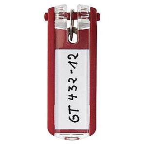 6 DURABLE Schlüsselanhänger KEY CLIP rot