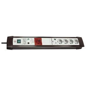 brennenstuhl Premium-Line 5-fach Steckdosenleiste mit Überspannungsschutz schwarz