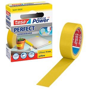 tesa extra Power® Perfect Gewebeband gelb 19,0 mm x 2,75 m 1 Rolle