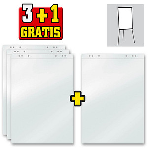 15+5 GRATIS: Flipchart-Papier blanko 67,5 x 98,0 cm, 20 Blatt, 15 Blöcke