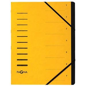PAGNA Ordnungsmappe   7 Fächer gelb