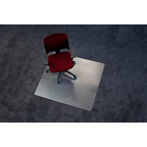 Rollt & Schützt Bodenschutzmatte für Teppichböden rechteckig, 110,0 x 120,0 cm