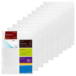 10 Durable Visitenkartenhüllen Transparent