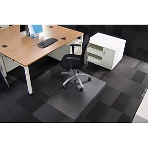 Rollsafe Bodenschutzmatte für Teppichböden rechteckig, 110,0 x 120,0 cm