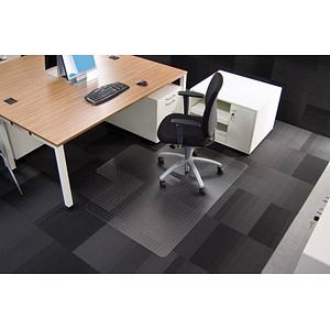 Rollsafe Bodenschutzmatte für Teppichböden rechteckig mit Lippe lange Seite, 120,0 x 150,0 cm
