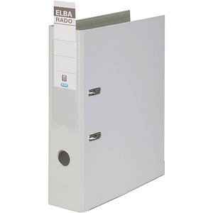 ELBA rado plast Ordner grau Kunststoff 8,0 cm DIN A4