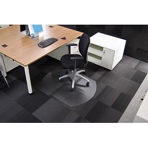 Rollsafe Bodenschutzmatte für Teppichböden halbrund, 90,0 x 120,0 cm