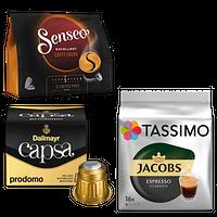 Kaffeepads, Kaffeekapseln und -discs