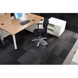 Rollsafe Bodenschutzmatte für Teppichböden rund, 120,0 x 120,0 cm