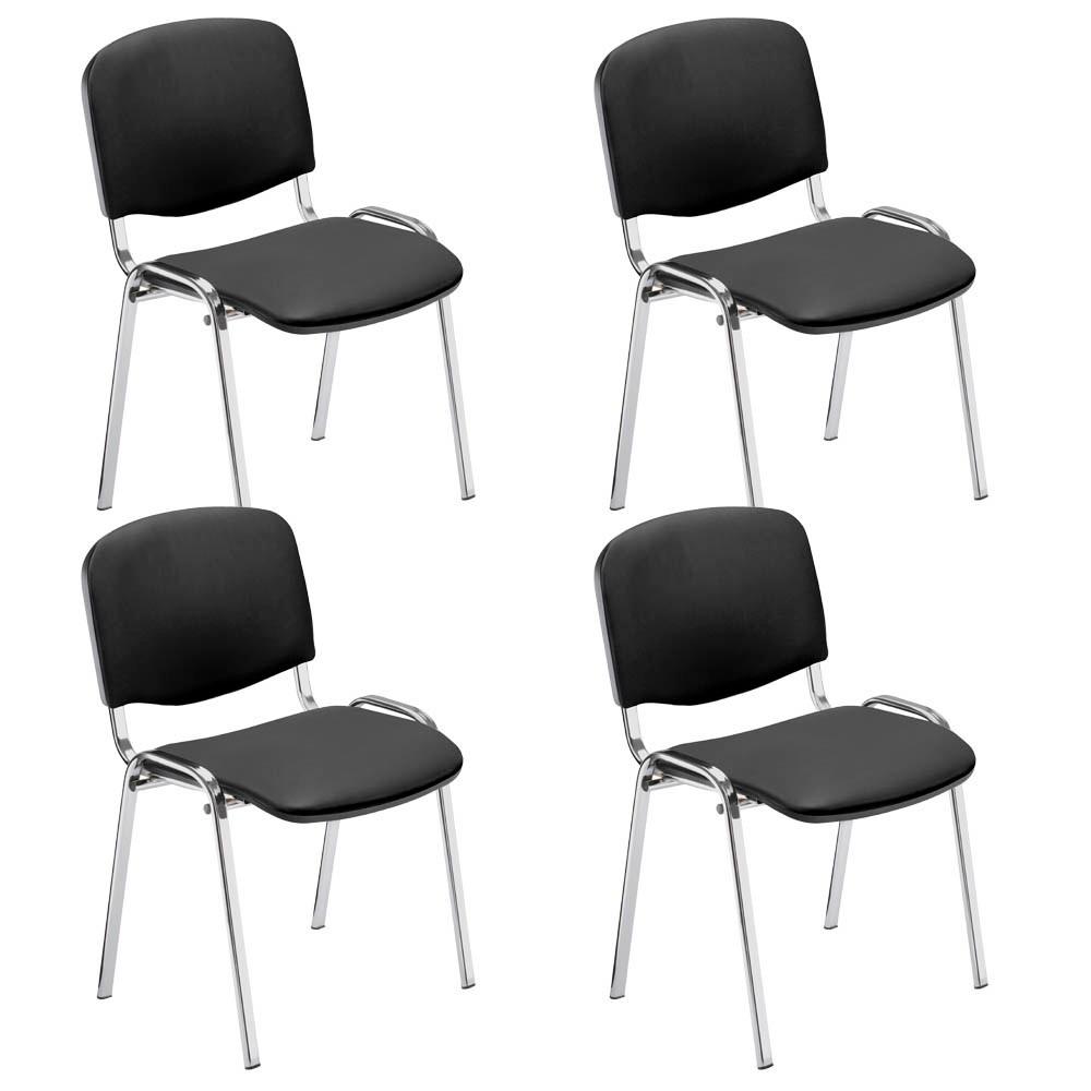 4 NOWY STYL Iso Besucherstühle anthrazit Kunstleder günstig