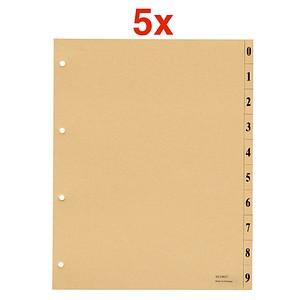 AKTION: 5x 100 office discount Trennblätter beige