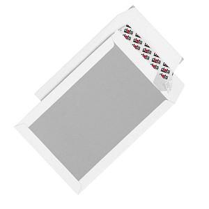 dots Papprückwandtaschen DIN C4 ohne Fenster weiß 50 St.
