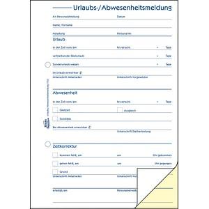 AVERY Zweckform Formularbuch 1753 Urlaubsabwesenheitsmeldung
