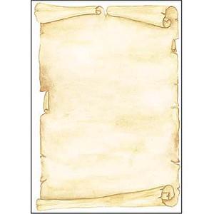 Motivpapier Pergament von sigel
