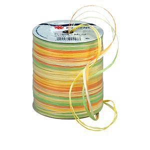 PRÄSENT Geschenkband Raffia matt gelb/orange/grün 3,0 mm x 50,0m