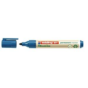 10 edding 21 EcoLine Permanentmarker blau 1,5 - 3,0 mm